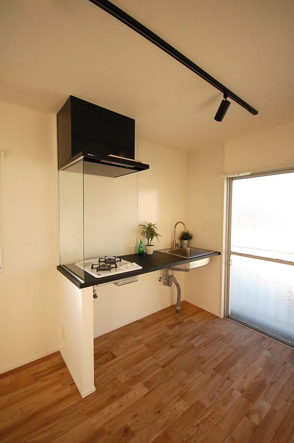 新設したキッチン